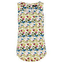 Buy Oasis Botanical Lady Print Vest, Multi Online at johnlewis.com