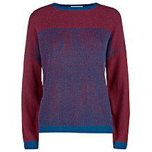 Buy Havren Multi Textured Jumper, Petrol/Tomato Online at johnlewis.com