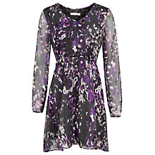 Buy Kaliko Bethany Floral Blouse, Multi/Purple Online at johnlewis.com