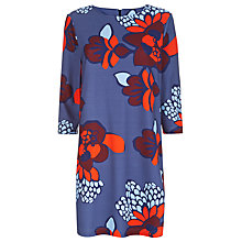 Buy Havren Stamped Flower Ponte Dress, Ocean Combo Online at johnlewis.com
