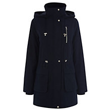Buy Oasis Charlie Lightweight Parka, Navy Online at johnlewis.com