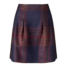 Buy Jigsaw Balmoral Check Skirt, Purple Online at johnlewis.com