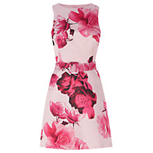 Buy Warehouse Rose Print Dress, Pink Online at johnlewis.com