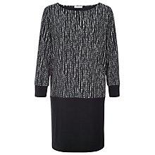 Buy Windsmoor Mono Print Dress, Black Online at johnlewis.com