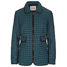 Buy Havren Quilted Jacket with Pleather Trim, Petrol Online at johnlewis.com