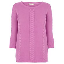 Buy Oasis Textured Cotton Waffle Jumper, Pale Pink Online at johnlewis.com
