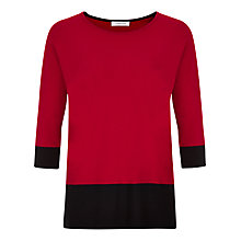 Buy Windsmoor Colour Block Jumper, Red / Black Online at johnlewis.com