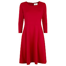 Buy Havren Long Sleeved Flippy Ponte Dress, Scarlet Online at johnlewis.com