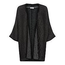 Buy Windsmoor Kimono Sleeve Textured Cardigan, Black Online at johnlewis.com
