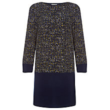 Buy Windsmoor Tweed Jersey Dress, Navy Online at johnlewis.com