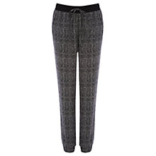 Buy Warehouse Herringbone Jogger Pants, Grey Pattern Online at johnlewis.com