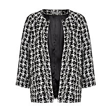 Buy Windsmoor Dogtooth Jacket, Black Online at johnlewis.com