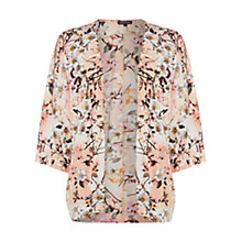 Buy Warehouse Floral Printed Kimono Jacket, Multi Online at johnlewis.com
