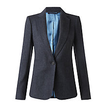 Buy Jigsaw Herringbone Tailored Jacket, Navy Online at johnlewis.com