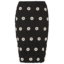 Buy Phase Eight Cleo Crochet Skirt, Black/Stone Online at johnlewis.com