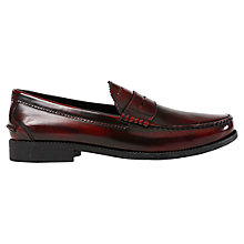 Buy Geox Damon Leather Penny Loafers, Mohogany Online at johnlewis.com