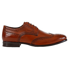 Buy Geox Albert 2Fit Leather Brogue Derby Shoes, Cognac Online at johnlewis.com