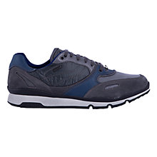 Buy Geox Sandro ABX Waterproof Trainers, Charcoal/Royal Online at johnlewis.com