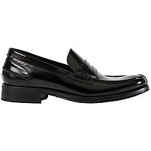 Buy Geox Silvio Penny Loafer Shoes, Black Online at johnlewis.com