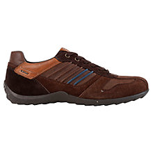 Buy Geox Pavel Leather Trainers, Chestnut Online at johnlewis.com