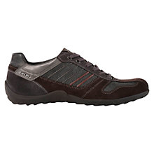 Buy Geox Pavel Suede Lace-Up Walking Shoes, Mud/Charcoal Online at johnlewis.com