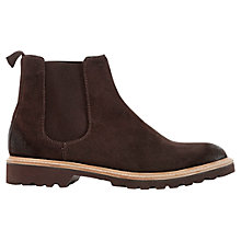 Buy Geox New Igor Chelsea Suede Boots, Mud Online at johnlewis.com