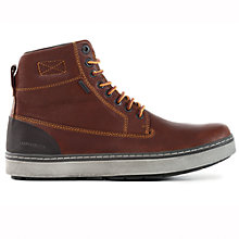 Buy Geox Mattias Hi-Top ABX Leather Boots, Light Brown Online at johnlewis.com