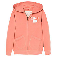 Buy Mango Kids Girls' Zip-Through Feather Hoodie Online at johnlewis.com