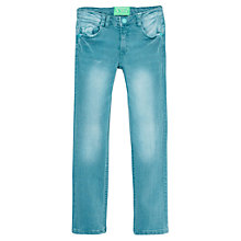 Buy Mango Kids Girls' Skinny Denim Jeans, Aqua Online at johnlewis.com