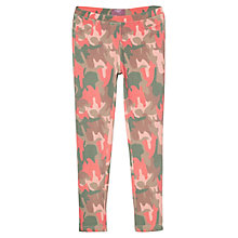 Buy Mango Kids Camo Print Leggings, Green/Pink Online at johnlewis.com
