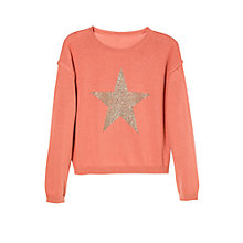 Buy Mango Kids Girls' Glitter Star Sweatshirt Online at johnlewis.com