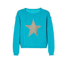 Buy Mango Kids Glitter Star Sweatshirt Online at johnlewis.com