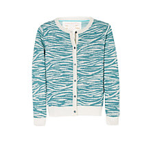 Buy Mango Kids Animal Print Cardigan, Pink Online at johnlewis.com