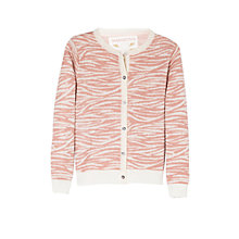 Buy Mango Kids Girls' Animal Print Cardigan, Pink Online at johnlewis.com