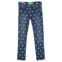 Buy Mango Kids Girls' Star Skinny Denim Jeans, Indigo Online at johnlewis.com