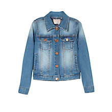 Buy Mango Kids Medium Denim Jacket, Blue Online at johnlewis.com