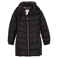 Buy Mango Kids Quilted Long Coat, Black Online at johnlewis.com