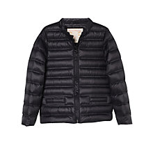 Buy Mango Kids Girls' Feather Down Zip Coat, Black Online at johnlewis.com