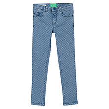Buy Mango Kids Girls' Polka Dot Denim Jeans, Light Blue Online at johnlewis.com