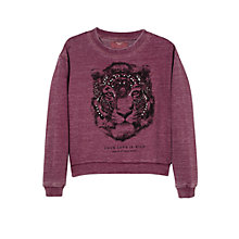 Buy Mango Kids Beaded Tiger Sweatshirt Online at johnlewis.com