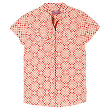 Buy Mango Kids Girls' Geometric Print Short Sleeved Shirt, Pink Online at johnlewis.com