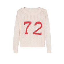 Buy Mango Kids Metal Thread Knit Sweater, Cream Online at johnlewis.com
