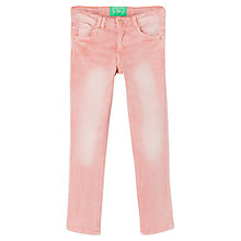 Buy Mango Kids Girls' Coloured Skinny Denim Jeans, Pink Online at johnlewis.com