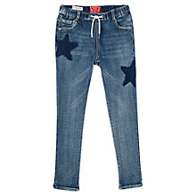 Buy Mango Kids Girls' Comfortable-Fit Vintage Jeans, Blue Online at johnlewis.com