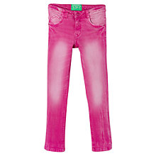 Buy Mango Kids Girls' Slim-Fit Washed Jeans, Fuschia Online at johnlewis.com