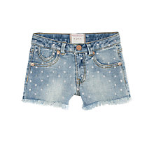Buy Mango Kids Polka Dot Denim Shorts, Blue Online at johnlewis.com
