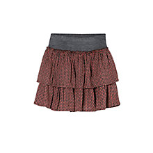 Buy Mango Kids Pattern Ruffled Skirt, Brown/Charcoal Online at johnlewis.com