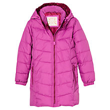 Buy Mango Kids Girls' Quilted Long Coat, Mauve Online at johnlewis.com