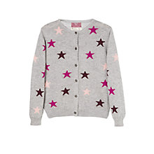 Buy Mango Kids Girls' Star Print Cardigan, Grey Online at johnlewis.com