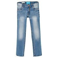 Buy Mango Kids Girls' Slim-Fit Denim Jeans, Light Blue Online at johnlewis.com